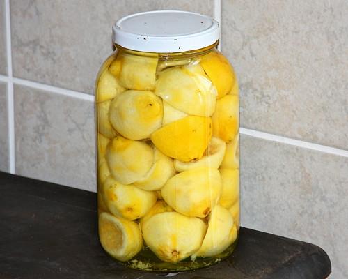 Making some lemon vinegar for cleaning!